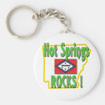 Hot Springs Rocks ! (green) Keychain