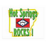 Hot Springs Rocks ! (green) Postcard