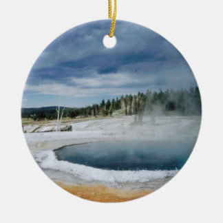 Hot Springs- Yellowstone Ceramic Ornament
