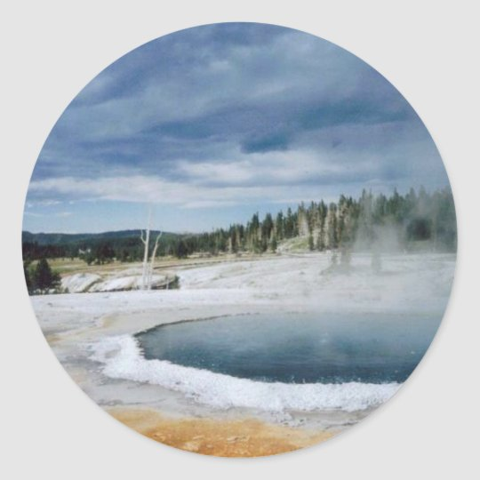 Hot Springs-Yellowstone Classic Round Sticker