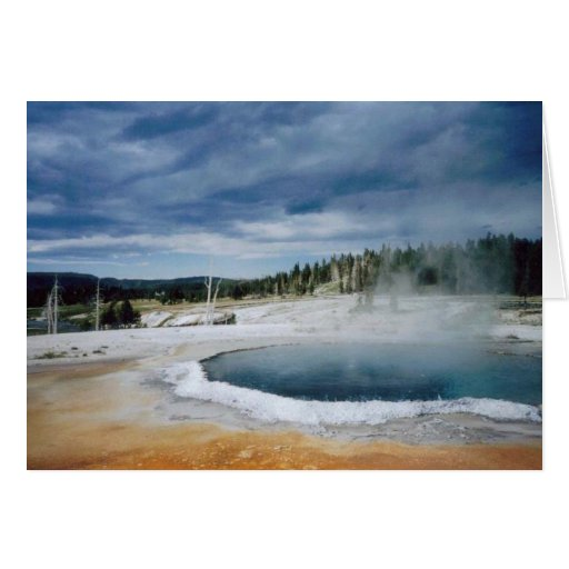 Hot Springs-Yellowstone Greeting Card