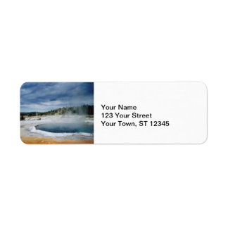 Hot Springs- Yellowstone Label