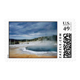 Hot Springs-Yellowstone Stamp