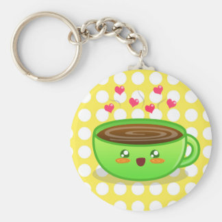 Hot Steamy Coffee Keychain