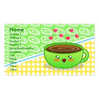 Hot Steamy Coffee Profile Card Business Card