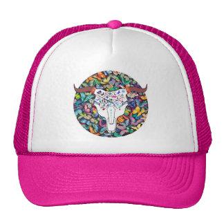Hot Steer Skull Tattoo Design Hat for chicks