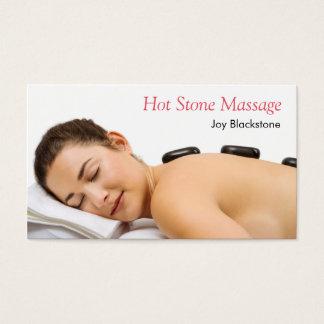 hot stone massage business card