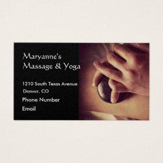 Hot Stone Massage Photo Business Card