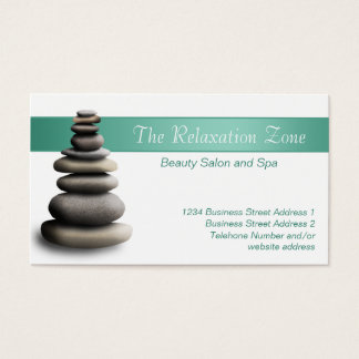 Hot Stones Health Spa Appointment & Business Cards
