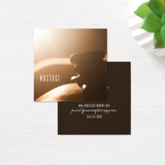 Hot Stones Massage Therapy Business Cards