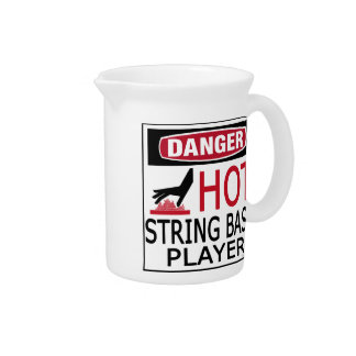 Hot String Bass Player Beverage Pitcher
