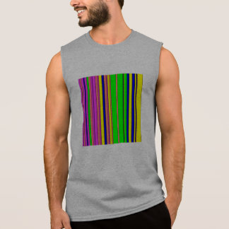 hot stripes rainbow sleeveless tee