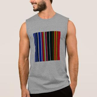 hot stripes red blue sleeveless tee