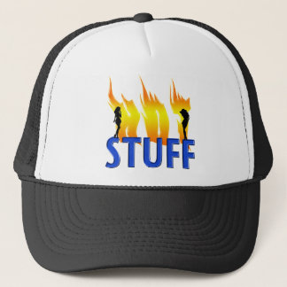 Hot Stuff and Flames Trucker Hat