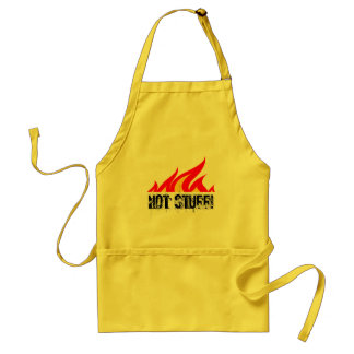 Hot stuff BBQ apron with burning fire flames