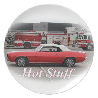 Hot Stuff Camaro Party Plates