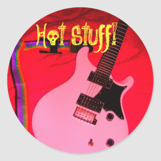 Hot Stuff! Classic Round Sticker