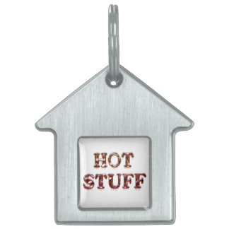 Hot Stuff Dripping Coloured Chrome Pet Name Tag