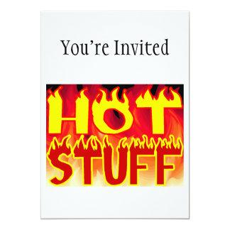 Hot Stuff Flaming Card