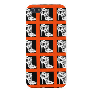 HOT STUFF HIGH HEELS YIPES STRIPES WOMENS SHOE COVER FOR iPhone SE/5/5s