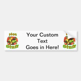 Hot Stuff Hot Pepper Photograph With Text Bumper Sticker