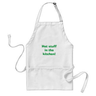Hot stuff in the kitchen! adult apron
