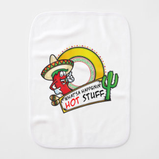 Hot Stuff Spicy Red Pepper Mexico Burp Cloth