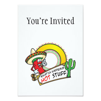 Hot Stuff Spicy Red Pepper Mexico Card