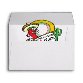 Hot Stuff Spicy Red Pepper Mexico Envelope