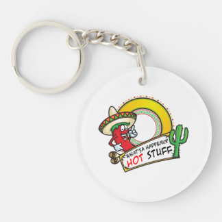 Hot Stuff Spicy Red Pepper Mexico Keychain