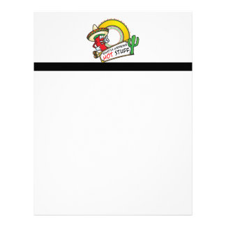 Hot Stuff Spicy Red Pepper Mexico Letterhead