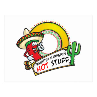 Hot Stuff Spicy Red Pepper Mexico Postcard