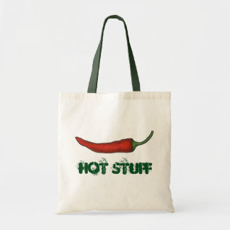 Hot Stuff Valentine's Day Red Chili Pepper Veggie Tote Bag