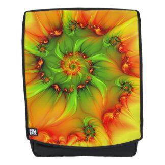 Hot Summer Green Orange Abstract Colorful Fractal Backpack