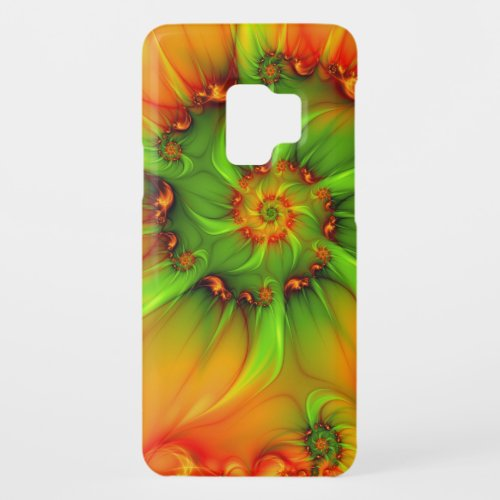 Hot Summer Green Orange Abstract Colorful Fractal Phone Case