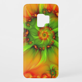 Hot Summer Green Orange Abstract Colorful Fractal Case-Mate Samsung Galaxy S9 Case
