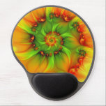 "Hot Summer Green Orange Abstract Colorful Fractal Gel Mouse Pad<br><div class=""desc"">Colors and shapes,  not only in summer.