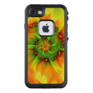 Hot Summer Green Orange Abstract Colorful Fractal LifeProof FRĒ iPhone 7 Case