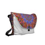 hot summer kaleidoscope messenger bag
