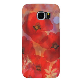 Hot summer poppies samsung galaxy s6 cases