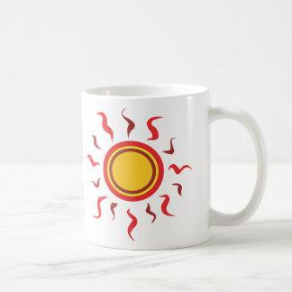 Hot Summer Sun Classic White Coffee Mug