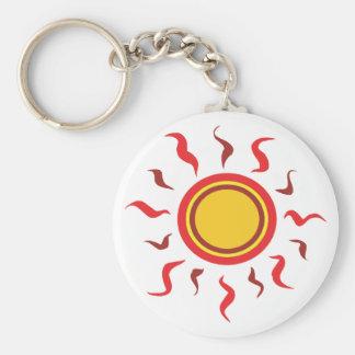 Hot Summer Sun Key Chain