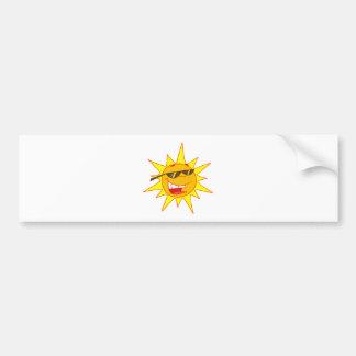 Hot Sun Cartoon Character Bumper Sticker