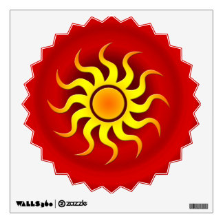 HOT SUN WALL STICKER