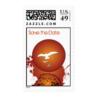 Hot Sunset Save the Date Postage Stamps