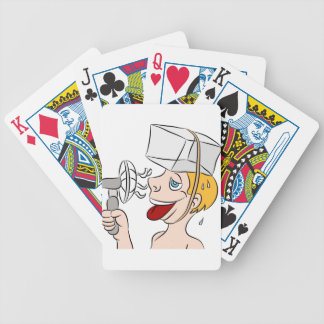 Hot Sweaty Man Trying To Stay Cool Bicycle Playing Cards