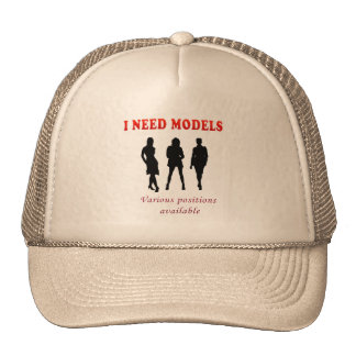 Hot swimsuit models trucker hat