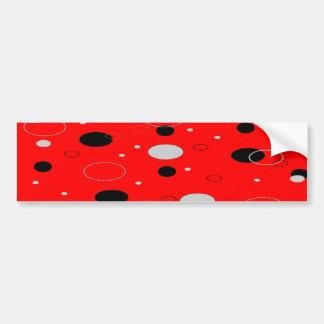 Hot Tamale Black and Grey Dots Bumper Sticker