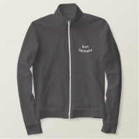 Hot Tamale Embroidered Women's Fleece Track Jacket