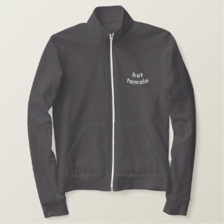 Hot Tamale Embroidered Women's Fleece Track Jacket